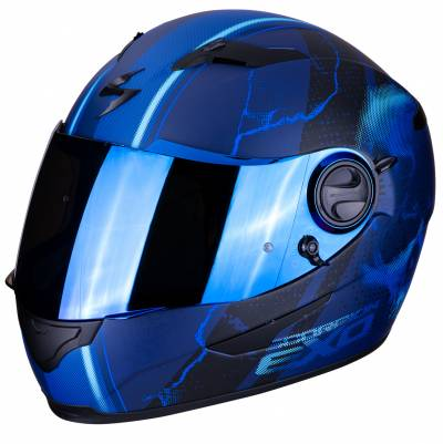 Scorpion Helm EXO-490 Dar, schwarz-blau matt