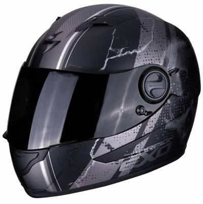 Scorpion Helm EXO-490 Dar, schwarz-silber matt