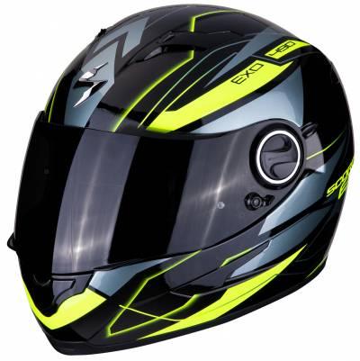 Scorpion Helm EXO-490 Nova, schwarz-fluogelb