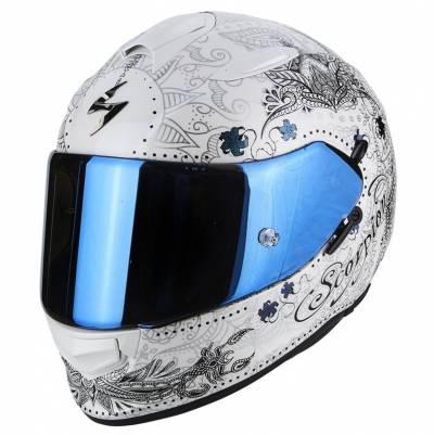 Scorpion Helm Exo-510 Air Azalea, weiß-schwarz-silber