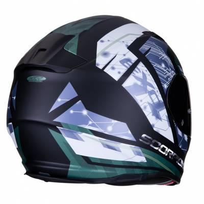Scorpion Helm EXO-510 Air Clarus, schwarz-blau-grün-weiß matt