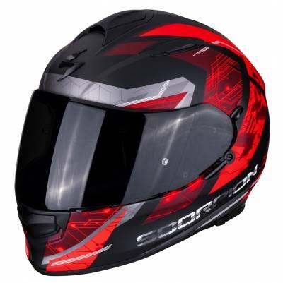 Scorpion Helm EXO-510 Air Clarus, schwarz-rot-silber matt