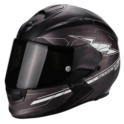 Scorpion Helm Exo-510 Air Cross, mattgrau-schwarz-weiß