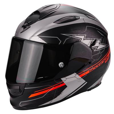 Scorpion Helm Exo-510 Air Cross, schwarz-silber-neonrot