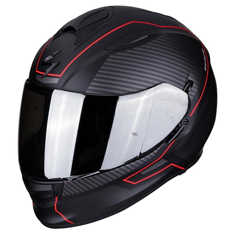 Scorpion Helm EXO-510 Air Frame, schwarz-rot matt