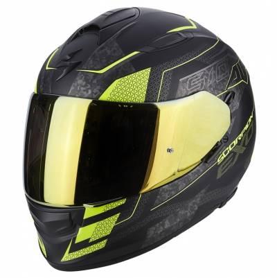 Scorpion Helm Exo-510 Air Galva, matt schwarz-fluogelb