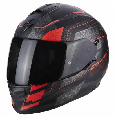 Scorpion Helm Exo-510 Air Galva, matt schwarz-fluorot