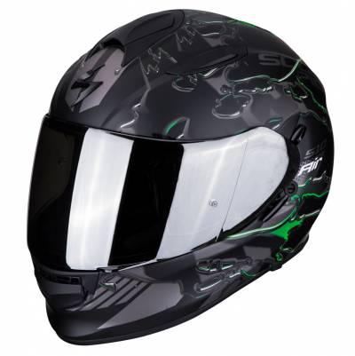 Scorpion Helm EXO-510 Air Likid, schwarz-silber-grün matt