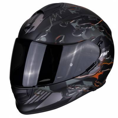 Scorpion Helm EXO-510 Air Likid, schwarz-silber-orange matt