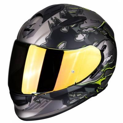 Scorpion Helm EXO-510 Air Likid, silber-schwarz-fluogelb matt