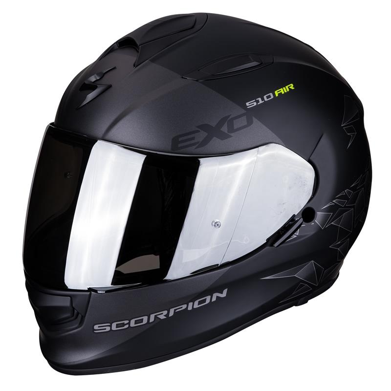 Scorpion Helm EXO-510 Air Pique, schwarz-silber matt