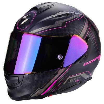 Scorpion Helm Exo-510 Air Sync, matt-schwarz-pink