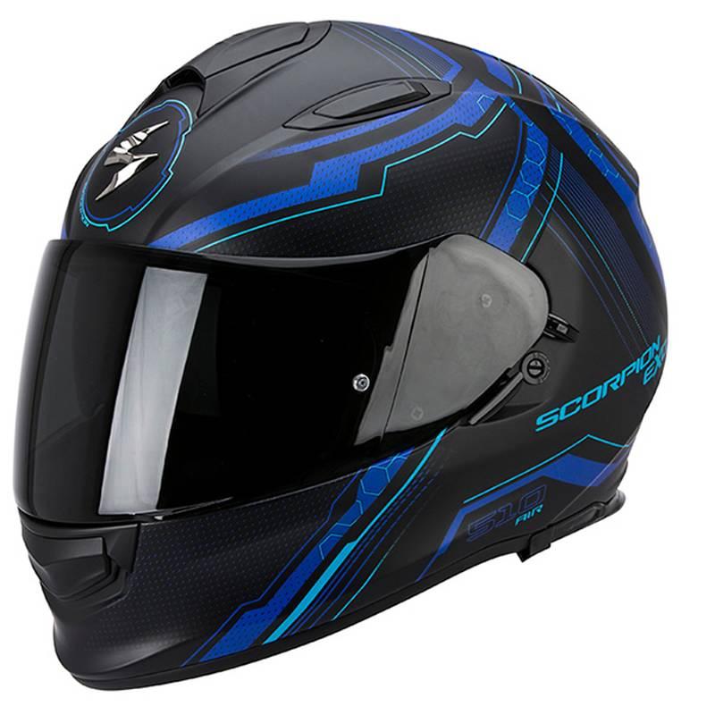 Scorpion Helm Exo-510 Air Sync, schwarz-blau matt