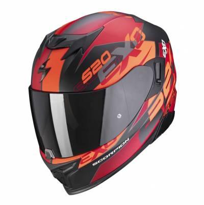 Scorpion Helm EXO-520 Air Cover, schwarz-rot-matt