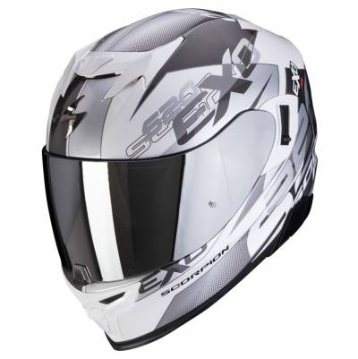 Scorpion Helm EXO-520 Air Cover, weiß-silber