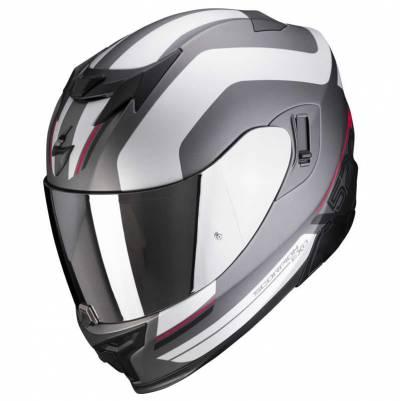 Scorpion Helm EXO-520 Air Lemans, silber-rot matt