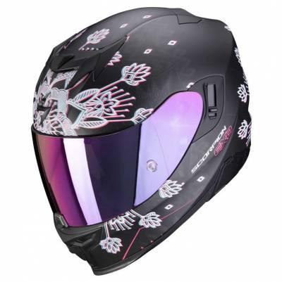 Scorpion Helm EXO-520 Air Tina, schwarz-silber matt