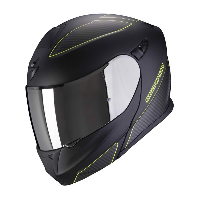Scorpion Helm EXO-920 Flux, schwarz-fluogelb matt