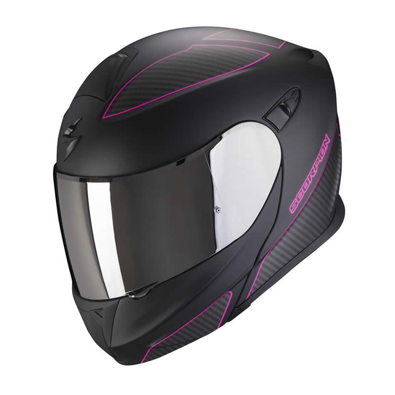 Scorpion Helm EXO-920 Flux, schwarz-pink matt