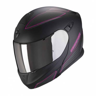 Scorpion Helm EXO-920 Flux, schwarz-pink matt
