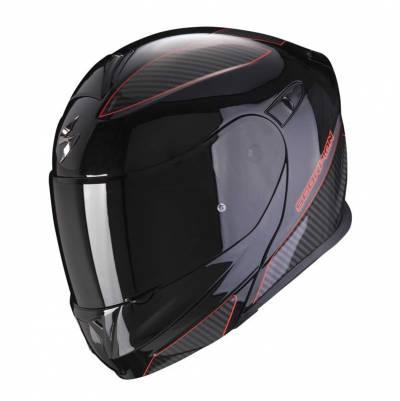 Scorpion Helm EXO-920 Flux, schwarz-rot
