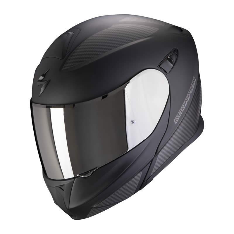 Scorpion Helm EXO-920 Flux, schwarz-silber matt