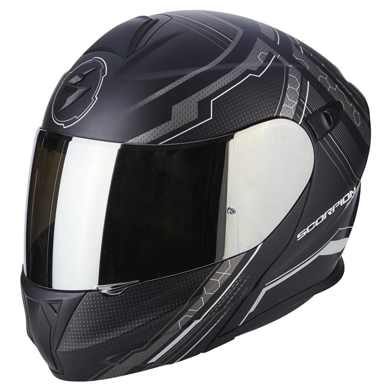 scorpion helm exo 920 satellite matt schwarz silber. Black Bedroom Furniture Sets. Home Design Ideas