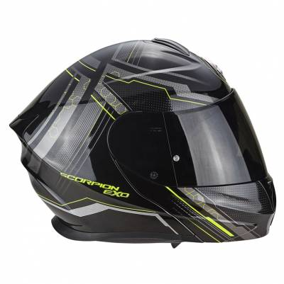 Scorpion Helm EXO-920 Satellite, schwarz-fluogelb