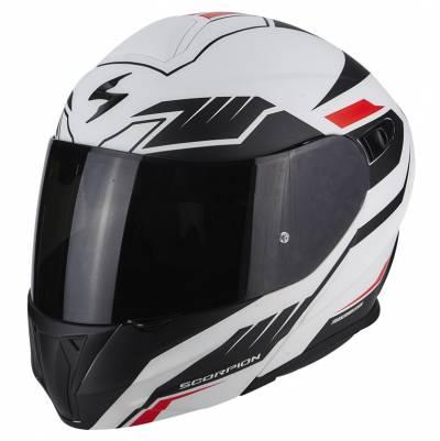 Scorpion Helm EXO-920 Shuttle, matt weiß-schwarz-rot