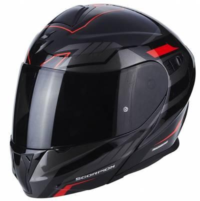 Scorpion Helm EXO-920 Shuttle, schwarz-silber-rot