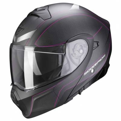 Scorpion Helm EXO-930 Cielo schwarz-pink matt