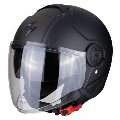 Scorpion Helm EXO-City Avenue, schwarz-silber matt