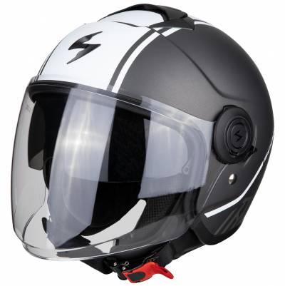 Scorpion Helm EXO-City Avenue, silber-weiß matt
