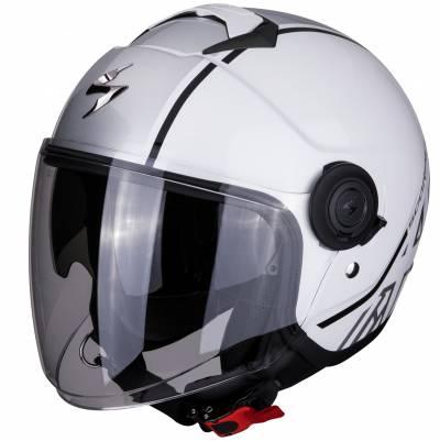 Scorpion Helm EXO-City Avenue, weiß-silber-schwarz