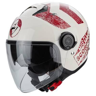 Scorpion Helm Exo-City Heritage, beige-rot
