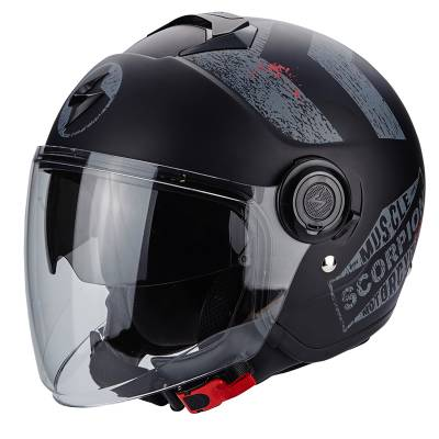 Scorpion Helm Exo-City Heritage, matt schwarz-silber