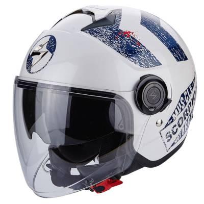 Scorpion Helm Exo-City Heritage, weiß-blau