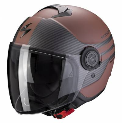 Scorpion Helm EXO-City Moda, braun-schwarz matt