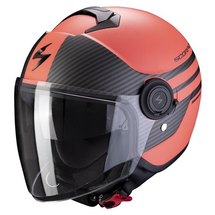 Scorpion EXO-CITY AVENUE Motorrad Jethelm matt braun schwarz