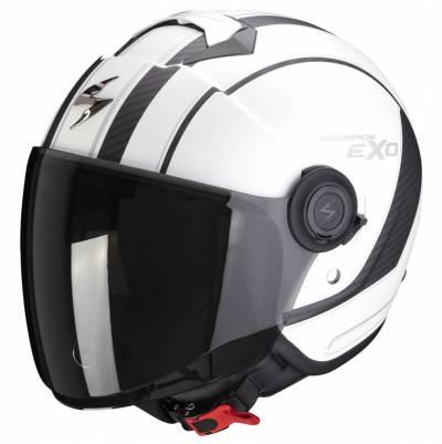 Scorpion Helm Exo-City Scoot, weiß-schwarz matt