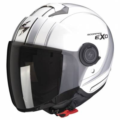 Scorpion Helm Exo-City Scoot, weiß-silber