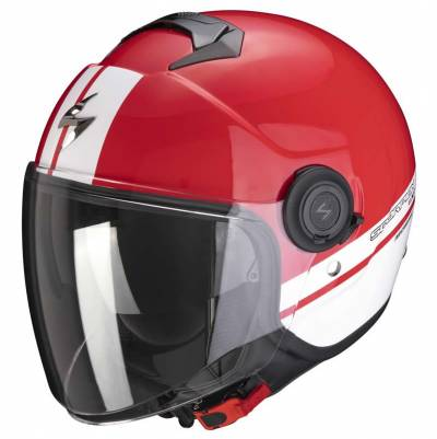 Scorpion Helm EXO-City Strada, rot-weiß-weiß