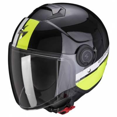 Scorpion Helm EXO-City Strada, schwarz-weiß-fluogelb