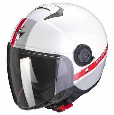 Scorpion Helm EXO-City Strada, weiß-silber-rot