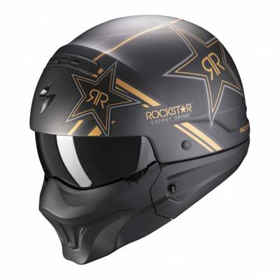 Scorpion Helm EXO-Combat Evo Rockstar, schwarz-gold matt