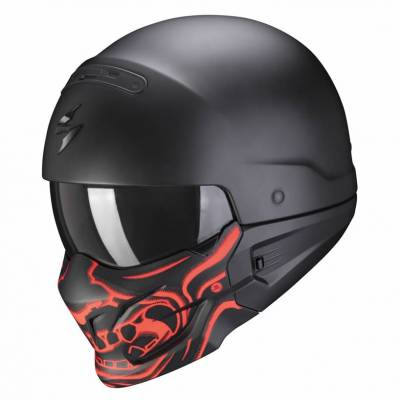 Scorpion Helm EXO-Combat Evo Samurai, schwarz-rot matt