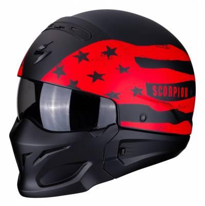Scorpion Helm EXO-Combat Rookie, schwarz-rot matt