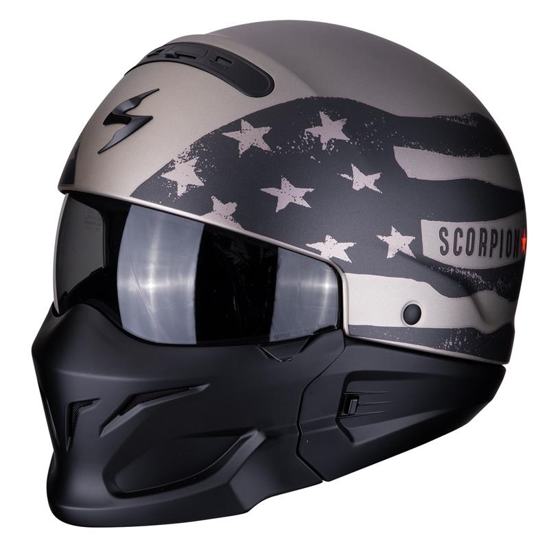 Scorpion Helm EXO-Combat Rookie, schwarz-titan matt