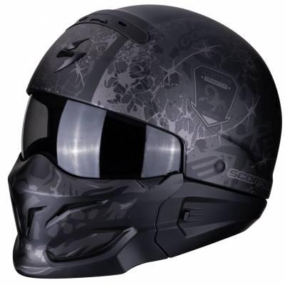 Scorpion Helm EXO-Combat Stealth, schwarz-silber matt