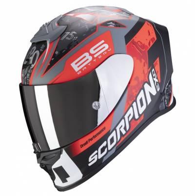 Scorpion Helm EXO-R1 Air Fabio Replica, schwarz-rot matt